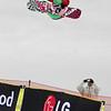 Snowboard WC Cardrona<br /> Halfpipe<br /> Ben Stewart NZE