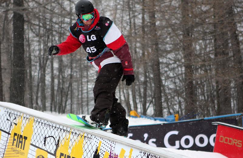 Snowboard WC<br /> Bardonecchia SBS<br /> Niklas Askmyr SWE