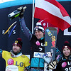 from left to right: 2. Andreas Prommegger (AUT), 1. Benjamin Karl (AUT), 3. Manuel Veith (AUT) © FIS/Oliver Kraus