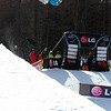 Sophie Rodriguez (FRA) competes in a halfpipe World Cup event in Bardonecchia, Italy © FIS/Oliver Kraus