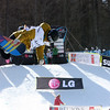 Anja Stefan (CRO) competes in a halfpipe World Cup event in Bardonecchia, Italy © FIS/Oliver Kraus