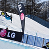 Yannick Imboden (SUI) competes in a halfpipe World Cup event in Bardonecchia, Italy © FIS/Oliver Kraus
