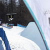 Aluan Ricciardi (FRA) competes in a halfpipe World Cup event in Bardonecchia, Italy © FIS/Oliver Kraus