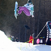 Emma Bernard (FRA) competes in a halfpipe World Cup event in Bardonecchia, Italy © FIS/Oliver Kraus