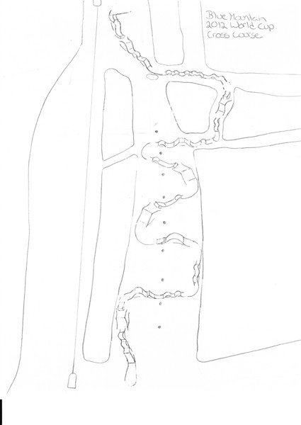 Anticipated World Cup course at Blue Mountain - Drawing by Jeff Ihaksi (CAN)