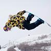 Gregory Bretz (USA)<br /> Halfpipe qualifications<br /> 2013 Sprint U.S. Snowboarding Grand Prix in Park City, Utah<br /> Photo: Sarah Brunson/U.S. Snowboarding
