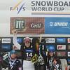FIS Snowboard World Cup - Rogla SLO - PGS - 2nd Takeuchi Tomoka JPN, 1st Ledecka Ester CZE and 3rd Dujmovits Julia AUT © Miha Matavz