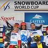 FIS Snowboard World Cup - Bad Gastein AUT - PSL - 2nd MICK Christoph ITA, 1st KOSIR Zan SLO and 3rd BUSSLER Patrick GER© Miha Matavz