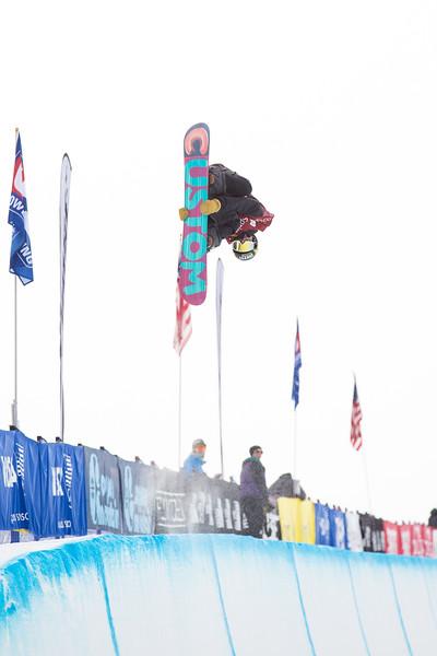 2014 Sprint U.S. Snowboarding Grand Prix at Copper Mountain, CO.<br /> Rider: Gabe Ferguson (USA)<br /> Snowboard halfpipe qualifications<br /> Photo: Sarah Brunson/U.S. Snowboarding