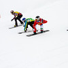 Semi Finals #1 Ladies with Charlotte Bankes (FRA) in blue, Nelly Moenne (FRA) in green, Michela Moioli (ITA) in red and Dominique Maltais (CAN) in yellow FIS SBX World Cup at La Molina - Finals - Mar 21, 2015. © Mario Sobrino La Molina, Molina, SBX 2
