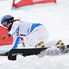 Julia Dujmovits (AUT) competes in PGS World Cup race Asahikawa, Japan © Atsushi Tomura