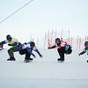 FIS Snowboard World Cup - Montafon AUT - SBX - Finals -  GUZACHEV Aleksandr RUS in Blue, HAEMMERLE Alessandro AUT in Red, DOUSCHAN Hanno AUT in Green, DEIBOLD Alex USA in Yellow © Miha Matavz