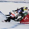 FIS Snowboard World Cup - Montafon AUT - SBX - Finals -   MYHRE Christian Ruud NOR in Blue, PULLIN Alex AUS in Red, SCHAD Konstantin GER in Yellow, HERNANDEZ Regino SPA in Green © Miha Matavz