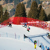 FIS Snowboard World Cup - Montafon AUT - SBX - Finals -  OLYUNIN Nikolay RUS in Blue, PULLIN Alex AUS in Red, KOBLET Kalle SUI in Green, SCHAD Konstantin GER in Yellow © Miha Matavz