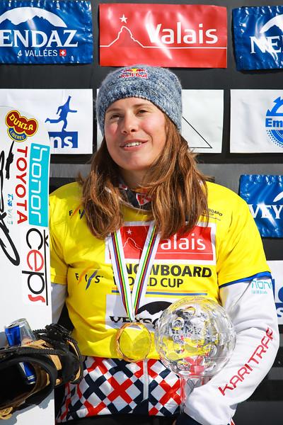 Overall<br /> FIS SNOWBOARD WORLD CUP 2017 SBX <br /> WOMEN'S SNOWBOARD CROSS WORLD CUP STANDING<br /> 1 SAMKOVA Eva CZE