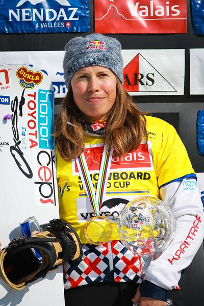 Overall<br /> FIS SNOWBOARD WORLD CUP 2017<br /> WOMEN'S SNOWBOARD CROSS WORLD CUP STANDING<br /> 1 SAMKOVA Eva CZE