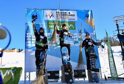 Men's podium, left to right - Ruki Tobita (JPN), Vlad Khadarin (RUS), Hiroaki Kunitake (JPN)