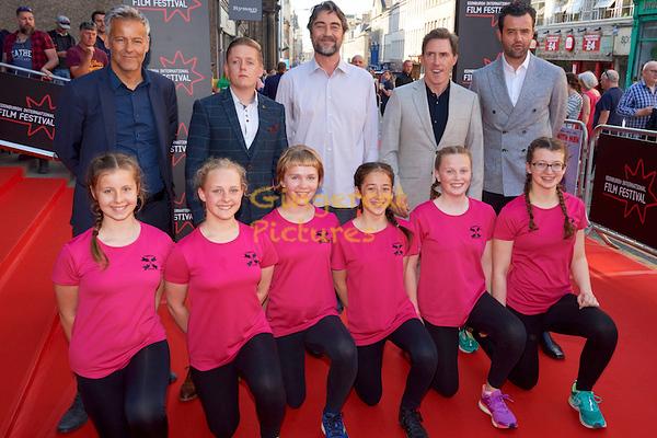 "EIFF UK Premiere, ""Swimming with Men"" EIFF UK Premiere, ""Swimming with Men"" Rupert Graves, Thomas Turgoose, Nathaniel Parker, Rob Brydon,  Daniel Mays and the Edinburgh Synchro swimmers."