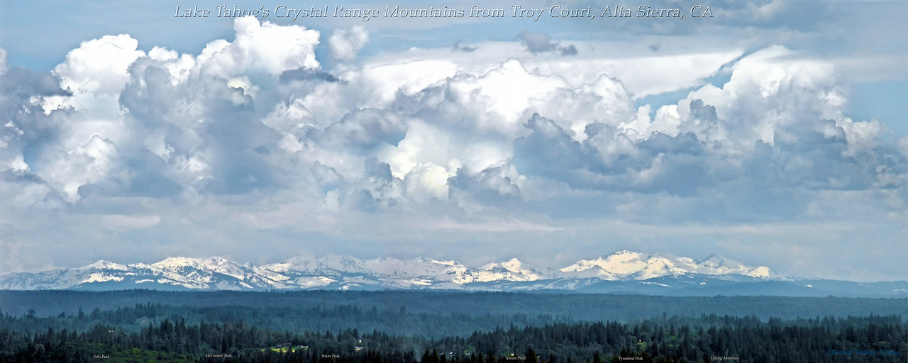 Thunderhead over the Crystal Range Mountains, CA