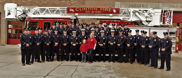 Clinton Iowa Fire Department New Tower Ladder Dedication And Wash Down And Push In In Memory Of Lt Eric ( Hoss ) Hosette