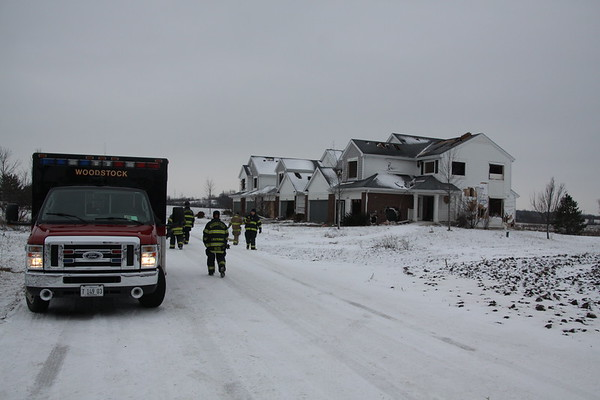Woodstock Fire Department Live Fire Townhomes Off Route 47