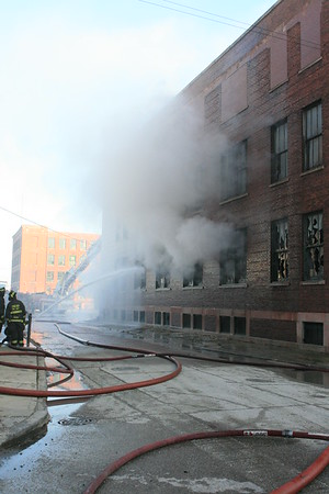 CFD 3-11 Alarm Fire With a Level 1 Haz-Mat  1428 West 37th Street 12-31-2011
