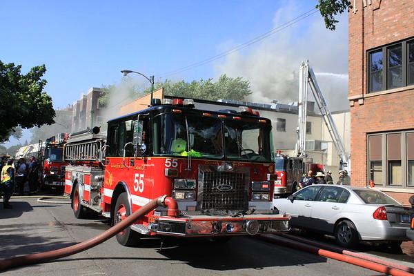 Chicago Fire Dept 3-11 Alarm Fire 2455 N. Sheffield Roy's Furniture