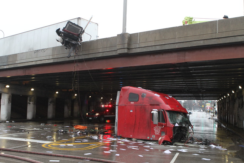 Chicago Fire Department Pin In Accident With Level 1 Haz-Mat