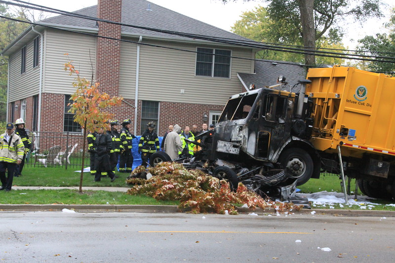 Glenview Fire Department Fatal 10-50 Garbage Truck V S Car
