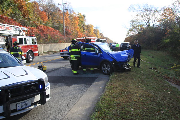 Morton Grove Fire Department  Rollover Pin In Accident On Golf East Of Overlook