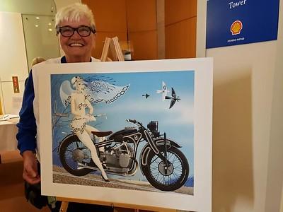 CHarlotte Wilson won the Blue Angel Painting