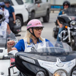 The Motor Maids Motorcycle club members met for lunch in Panama City Beach Saturday, May 4, 2019. Following lunch they took a ride down Thomas Drive.