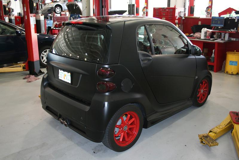 Flat Black Smart Car Downtown510