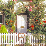 "Print title:  ""  ROSE COTTAGE  ""  / © Gj"