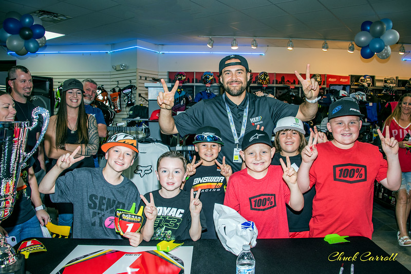 Barney's of Brandon Pre-Tampa SX Autograph Party - 2-14- 2020- Chuck Carroll