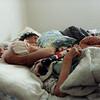 Floyd and Virgina sleeping at Marvel's in SLC, Utah in 1992.