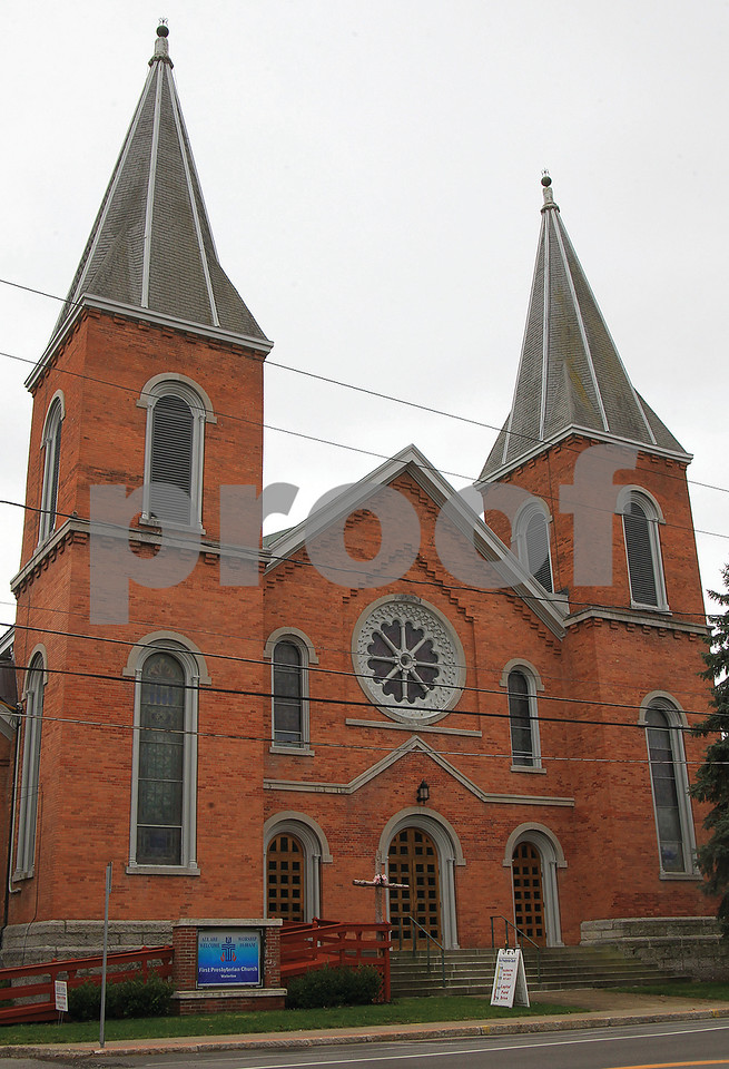 Spencer Tulis / Finger Lakes Times<br /> The Waterloo Presbyterian Church is celebrating its 200th anniversary with a series of events this year. Two former ministers, Rev. John Carlisle and Rev. Nancy Torpey Bidlespacher, have accepted invitations to return for the Sept. 17 celebration.