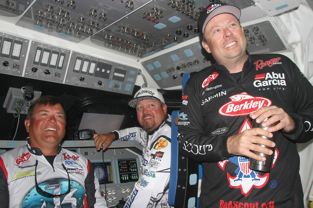 . Anglers Jay Kendrick - James Watson and Tom Redington check out the Space Shuttle