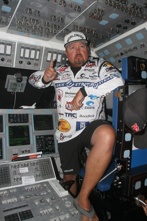. Angler James Watson IN THE SHUTTLE SIMULATOR