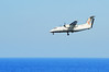 Olympic aircraft, type DASH 100, approaching Kassos airport for landing