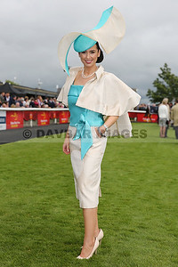 Suzanne McGarry winner of the Dubai Duty Free Most Stylish Lady competition at the Curragh (July 2017)