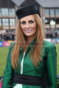 Jenny Pearce - Winner of Coast Best Dressed Lady competition at Punchestown (April 2012)