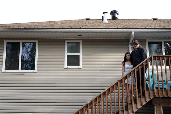 Shania Laliberta and Jonathan Burke at their home.