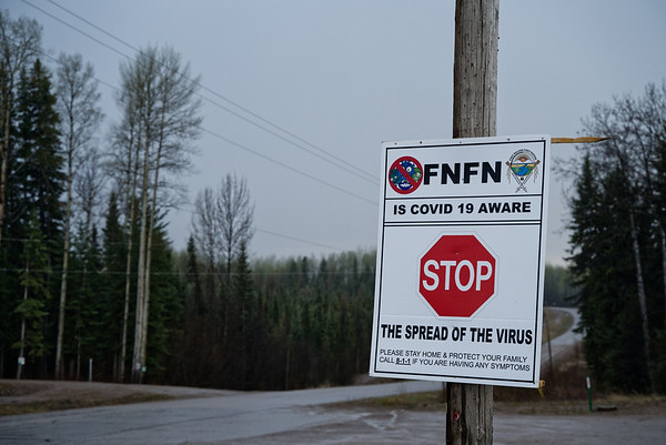 Street signage posted at one of the communities main intersections.