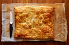 Puff vegetables pastry square shape