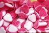 jelly sweets candy pink white heart shape