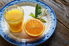 orange juice with orange flower Mediterranean