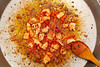 seafood paella from spain recipe fry step