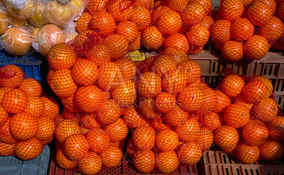 oranges from Mediterranean in net bags