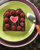 Lovely raspberryes and heart cake